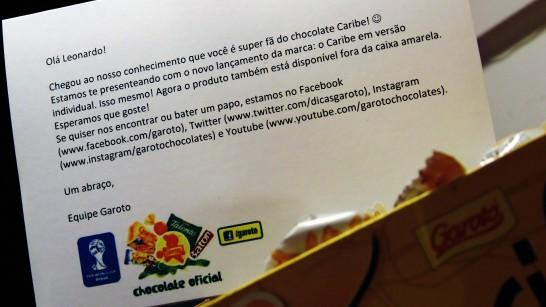 Carta 100% simpatia da Garoto